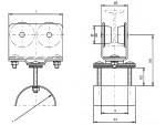Chariot câble plat sur poutrelle