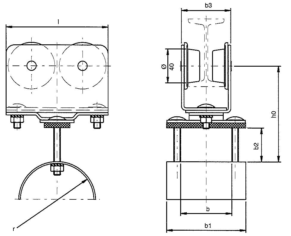 chariot c ble plat sur poutrelle accessoires de manutention et de levage. Black Bedroom Furniture Sets. Home Design Ideas